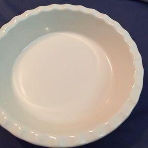 Red Ceramic Pie Plate - Mayfair - Appears Unused